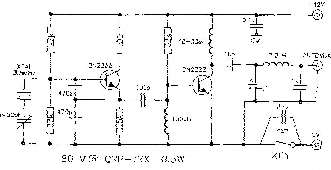 nfn key collection page  it s a 2n2222 circuit on the colorburst frequency the schematic circuit diagram was taped to the underside of the base